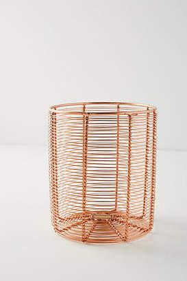 Anthropologie Copper Wired Utensil Jar
