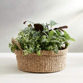 The White Company Seagrass Small Round Basket