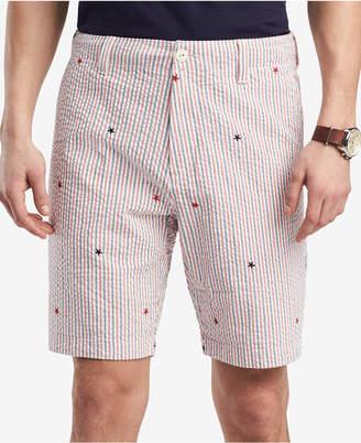 Tommy Hilfiger Men's Classic Fit Seersucker Stars & Stripes Shorts