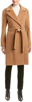 Cinzia Rocca Belted Wool & Cashmere-Blend Coat