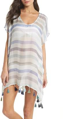 Surf Gypsy Stripe Tassel Cover-Up Tunic