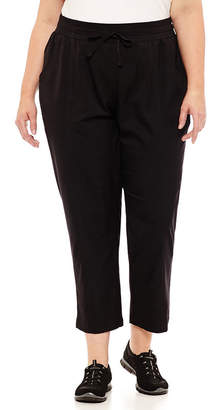 ST. JOHN'S BAY SJB ACTIVE Active Top Stitch Woven Pant - Plus