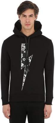 Neil Barrett Slim Fit Cotton Jersey Sweatshirt Hoodie