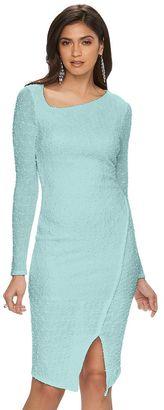 Women's Jennifer Lopez Asymmetrical Sheath Dress $70 thestylecure.com