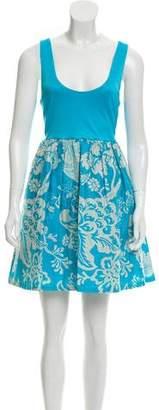 Alice + Olivia Jacquard Sleeveless Dress