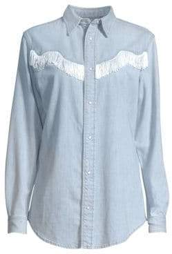Ganni Soft Denim Button-Down Shirt