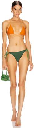 Jacquemus Albenga Swim Set in Orange & Green | FWRD