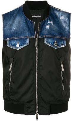 DSQUARED2 sleeveless denim gilet
