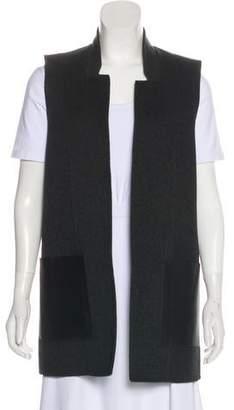 Michael Kors Virgin Wool-Blend Open Front Vest