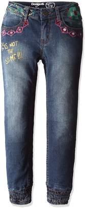Desigual Girls' Denim Pants Maestre, Sizes 5-14