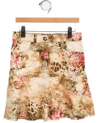 MonnaLisa Girls' Printed A-Line Skirt