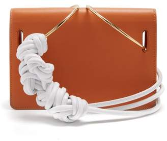 Roksanda Dia Leather Knotted Shoulder Bag - Womens - Tan White