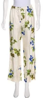 Prada High-Rise Silk Pants