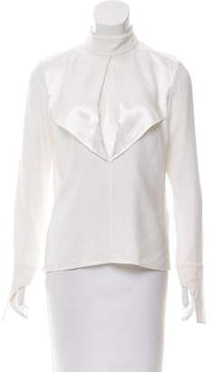 Dion Lee Silk Long Sleeve Top w/ Tags