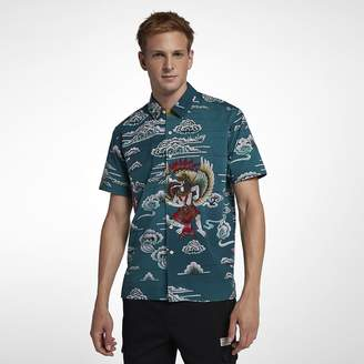 Hurley Indo Mens Woven Short-Sleeve Top