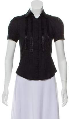 Behnaz Sarafpour Short Sleeve Button-Up Top w/ Tags
