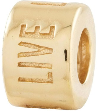 Prerogatives 14K Gold-Plated Sterling Live Laugh Love Bead