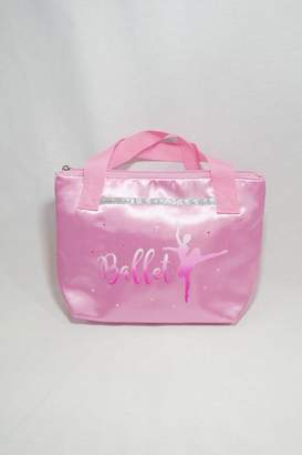 Pink Poppy Satin Ballet Tote