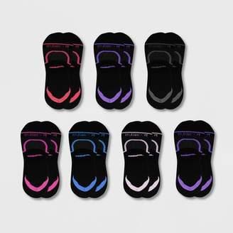 Fruit of the Loom Women's Cooling Cotton Flat Knit 6+1 Bonus Pack Liner Athletic Socks - Black 4-10