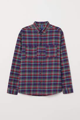 H&M Cotton Flannel Shirt - Purple