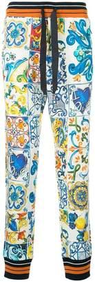 Dolce & Gabbana Sicilian print drawstring trousers