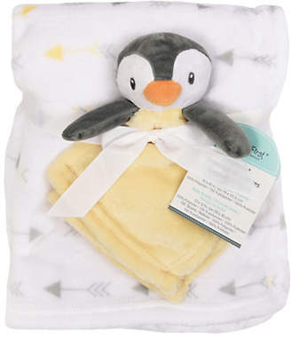 Original Penguin BABY'S FIRST BY NEMCOR Two-Piece Faux Fur Blanket Security Blanket Set