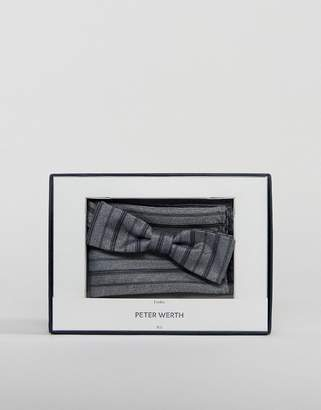 Peter Werth Bow Tie And Pocket Square Set