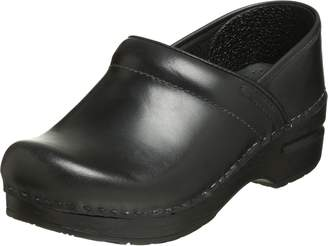 Dansko Women's Professional Pro Cabrio Leather Clog,Black