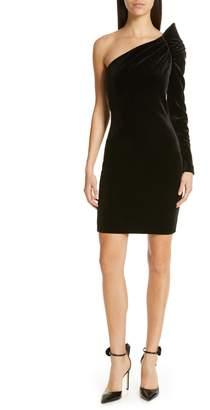 Ted Baker Awwtum One-Shoulder Velvet Body-Con Dress