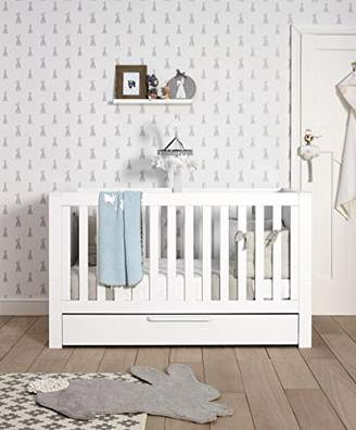 Mamas and Papas Franklin Cot and Toddler, Bed White