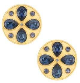 Swarovski Rebecca de Ravenel Pamina 24K Goldplated& Crystal Stud Earrings
