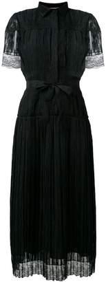 Bottega Veneta pleated dress with lace detail