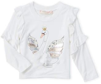Baby Sara Infant Girls) Ruffled Swan Tee