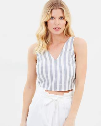 Knotted Striped Crop Top