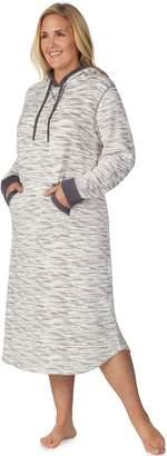 Cuddl Duds Plus Size Hooded Fleece Sleepshirt