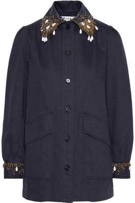 Acne Studios Josebe Bead-embellished Cotton-gabardine Jacket
