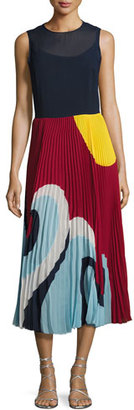 RED Valentino Sleeveless Pleated Wave-Print Maxi Dress $1,850 thestylecure.com