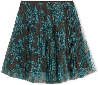 Burberry TEEN Pleated Lace Skirt