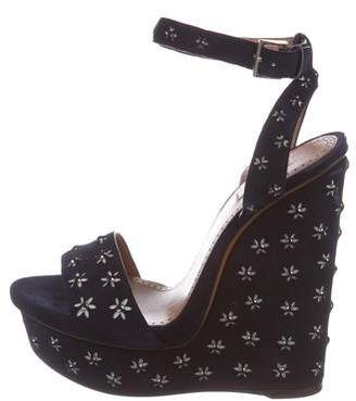 Alaia Embellished Wedge Sandals