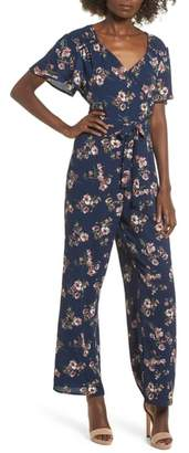 Rowa Row A Floral Surplice Jumpsuit