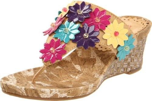Kenneth Cole Reaction Wild Swirl Wedge Sandal (Little Kid/Big Kid)