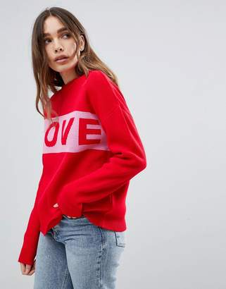 Paige Willow And Love Slogan Jumper