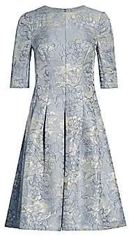 Teri Jon by Rickie Freeman Women's Metallic Jacquard A-Line Dress