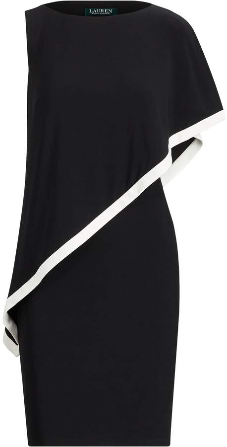Two-Tone Overlay Jersey Dress