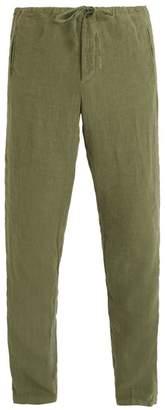 J.w.brine J.W. BRINE Drawstring waist straight-leg linen trousers