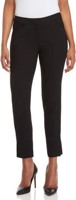 Halston Black Straight Ankle Pants