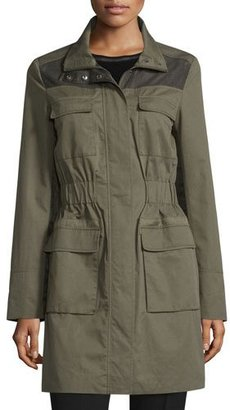 Elie Tahari Avery Cinched-Waist Jacket $398 thestylecure.com