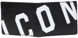 DSQUARED2 Icon Saffiano Leather Classic Wallet