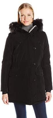 Nautica Women's Parka Jacket with Faux Fur Hood Strip (Removable) $58.44 thestylecure.com