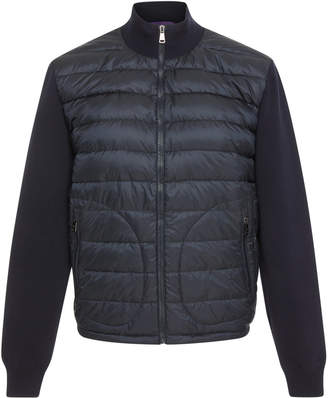 Ralph Lauren Paneled Quilted-Shell And Stretch-Wool Jacket